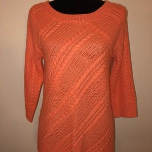 Orange Cable Sweater